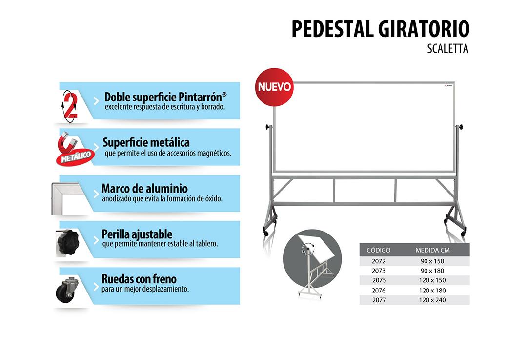 PEDESTAL GIRATORIO SCALETTA