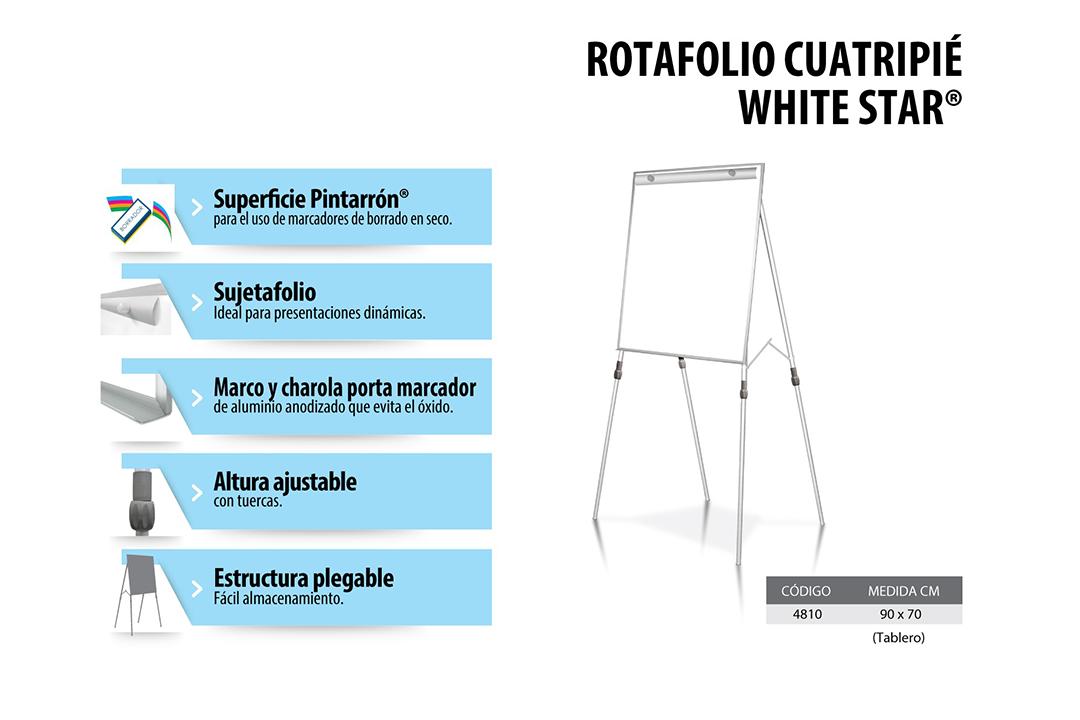 ROTAFOLIO_CUATRIPIE_WHITE_STAR