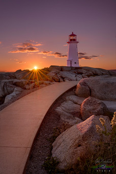 LAST LIGHT'S DELIGHT AT PEGGY'S COVE