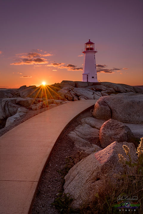 Last Light's Delight At Peggy's Cove by