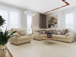 Первичные визуализации дизайн проекта квартиры 140 кв. м.