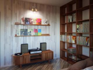 Интерьер музыкальной комнаты