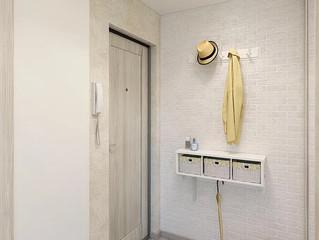 Первичные визуализации квартиры в стиле эклектика для согласования с заказчиком