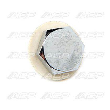 Oil Pan Drain Plug w/ Gasket, Chrome