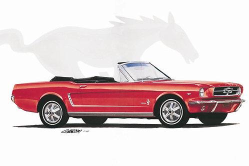 1964 Mustang Convertible Art Print