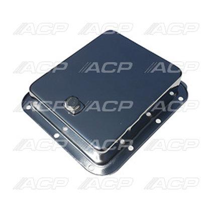 Transmission Pan C4, Chrome (OEM Type) w/ Drain Plug