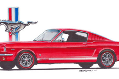 1965 Mustang GT Art Print
