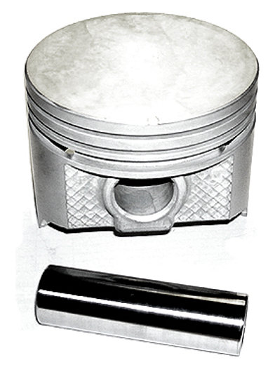 Silvolite Cast Piston Set- Flat- 200 CI