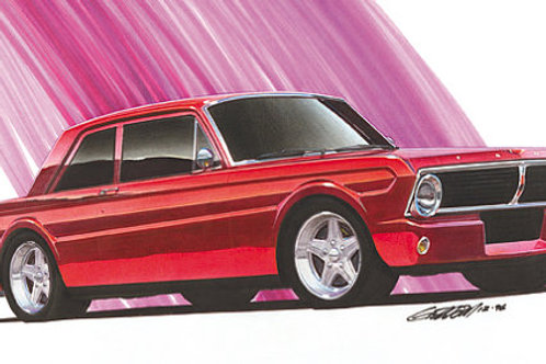 1965 Ford Falcon 2dr Project Car Art Print