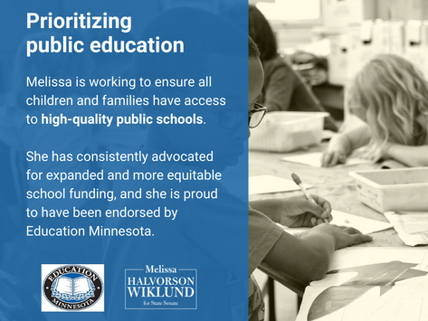 Investments in education are a priority for Melissa