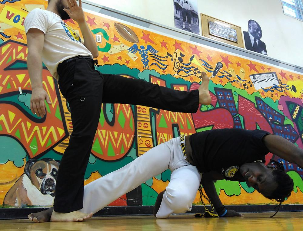Southside begins capoeira!