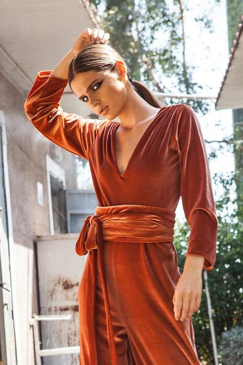 Gabriella velvet orange belt