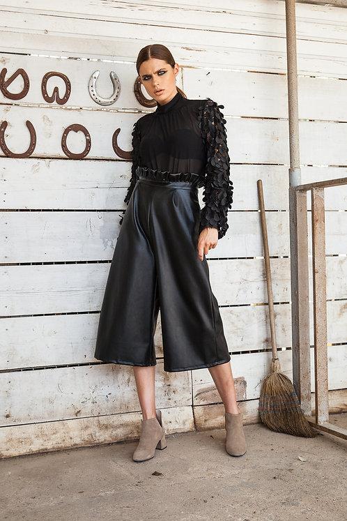 Isla leather cullotes