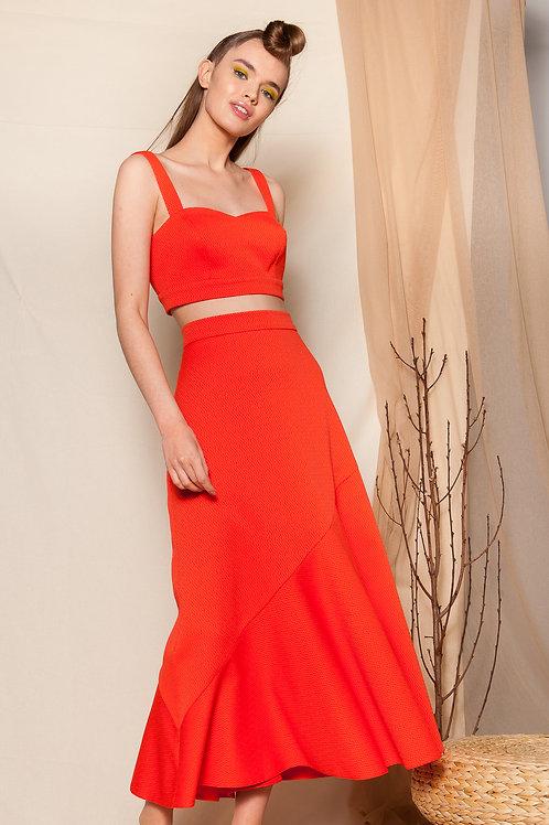 Lavinia coral skirt