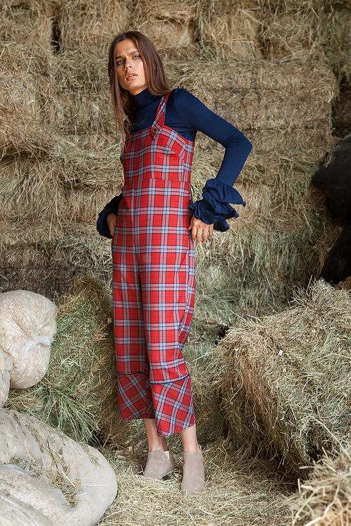 Beatrice plaid jumpsuit