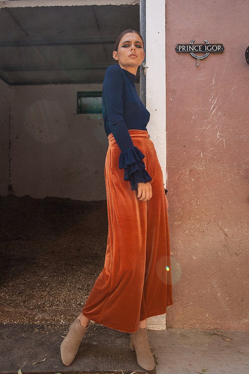 Gabriella velvet orange cullotes