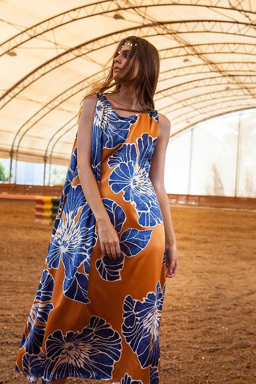 Alice satin printed wide dress