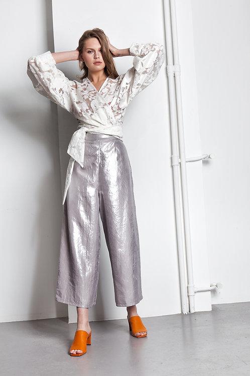 Silver foil culottes