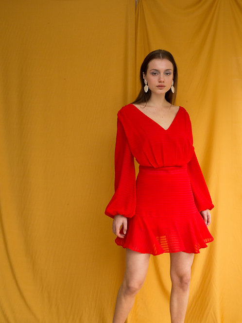 Patricia long sleeve mini dress