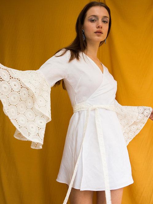 Laura ruffled sleeve mini dress