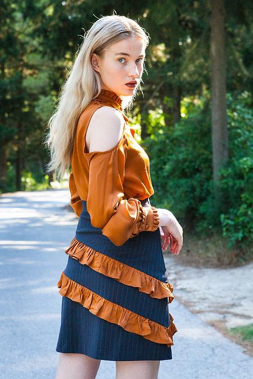 Melia striped skirt