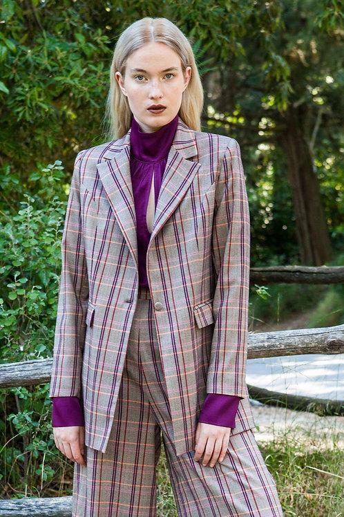 Doris plaid blazer