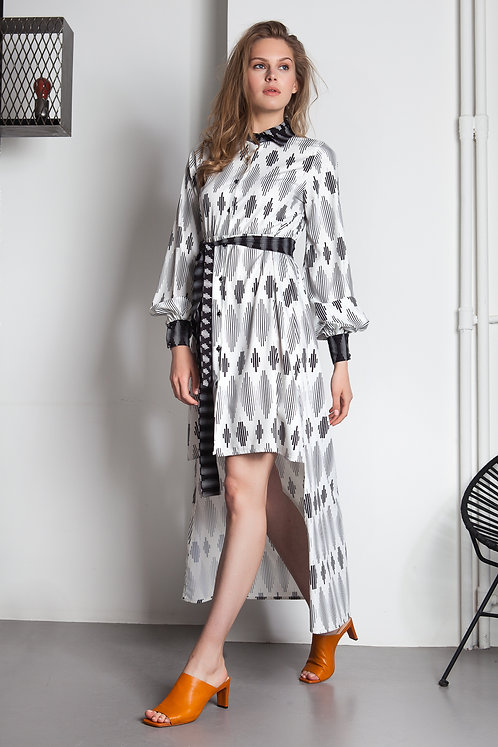 B&W lines exclusive printed shirtdress