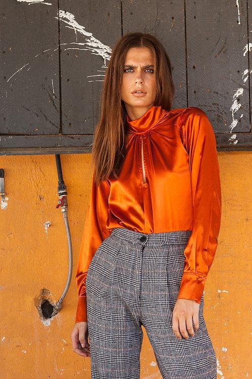 Jane satin orange top