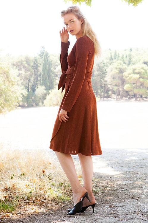 Rhea knitted rust dress