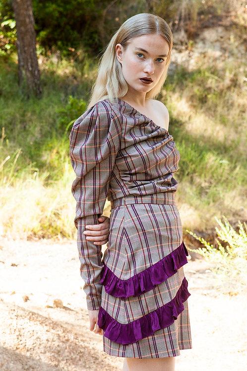 Doris plaid skirt