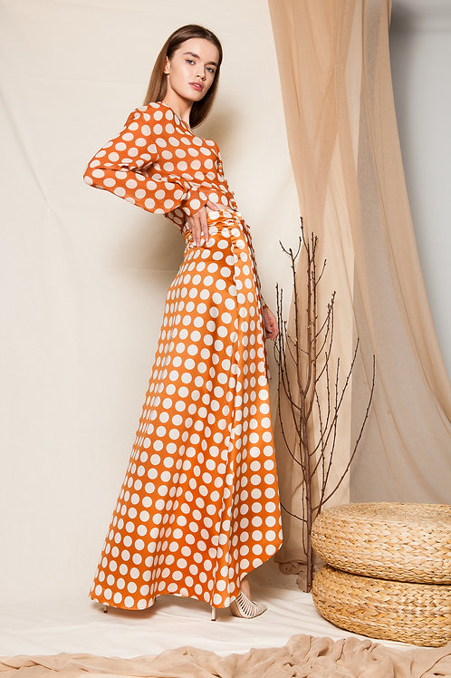 Nencia satin wrap skirt