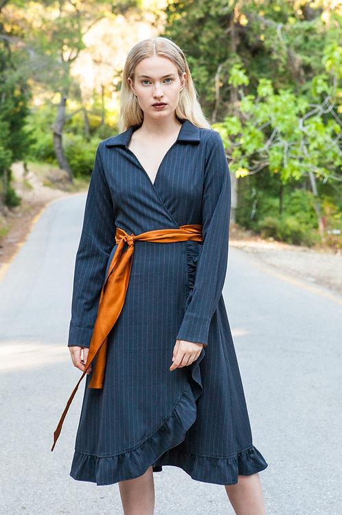 Melia striped dress