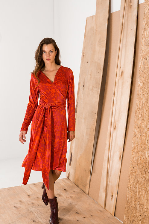 Laurence wrap dress