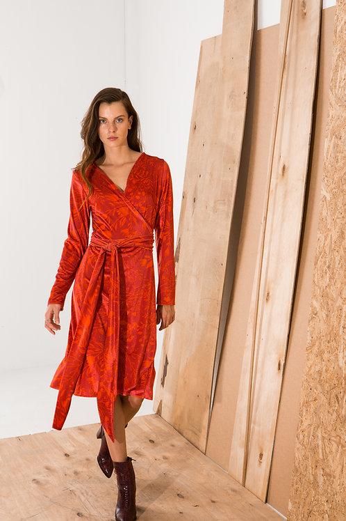 Laurence wrap dress