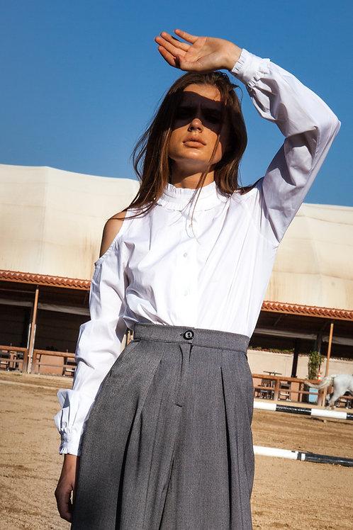Berenice ruffled white shirt