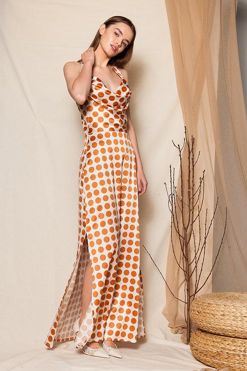 Lisabetta satin draped dress