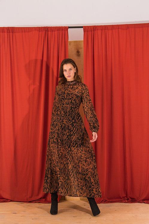 Yolene high neck dress