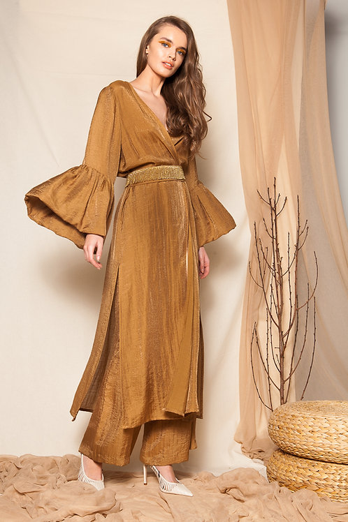 Ghinga puff sleeves kimono dress