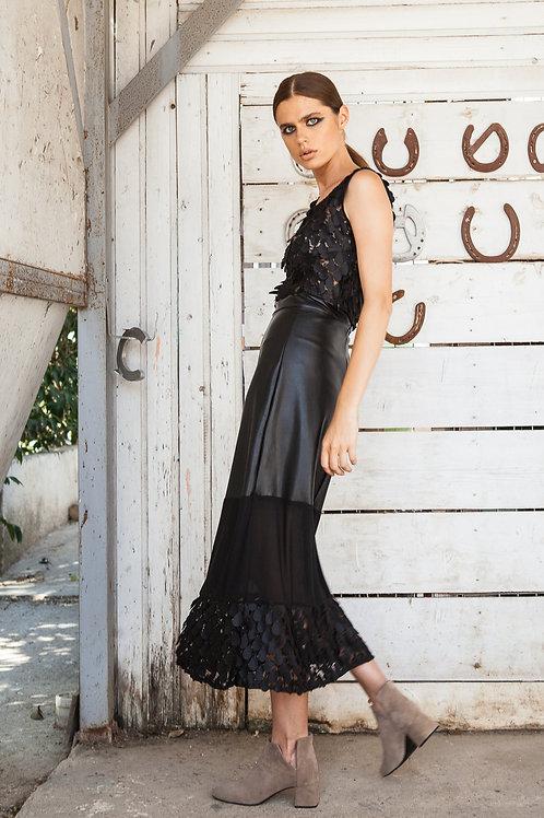 Isla leather skirt