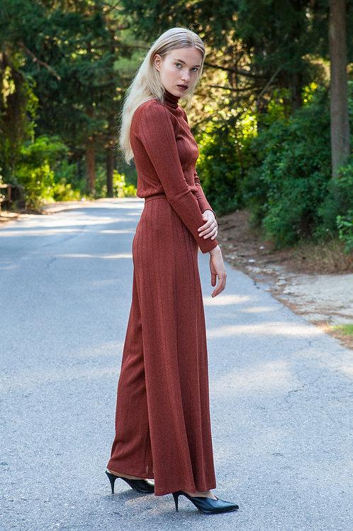 Rhea knitted rust pants