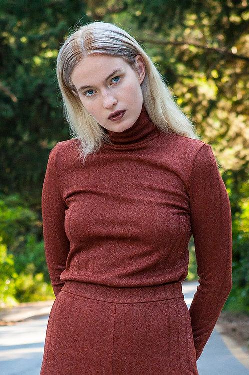 Rhea knitted turtleneck top
