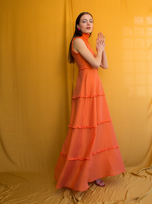 Barbara high neck dress