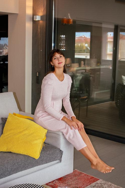 Simone puff sleeve knitted dress