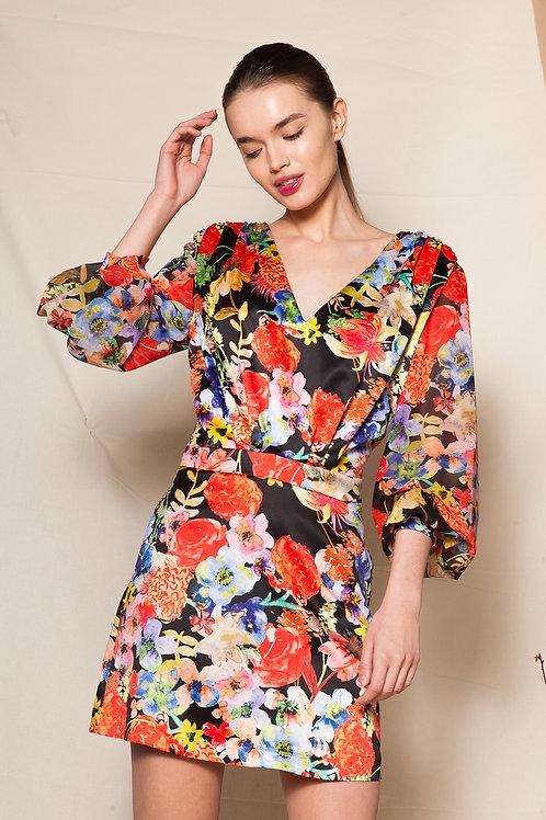 Lucrezia long sleeve mini dress
