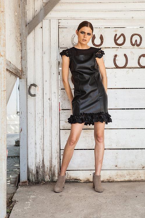 Isla leather dress