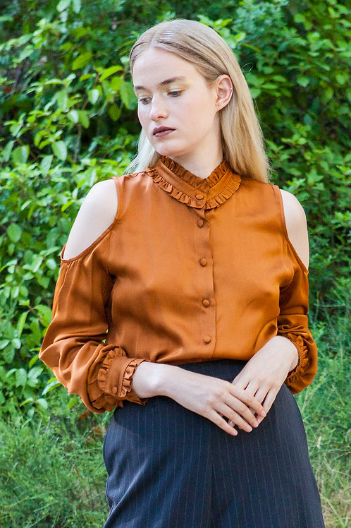 Lotis cut out sleeves shirt