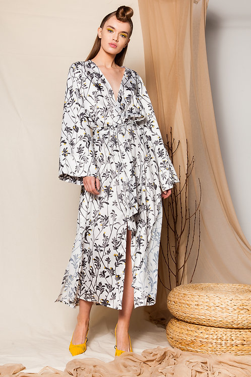 Cecilia satin kimono