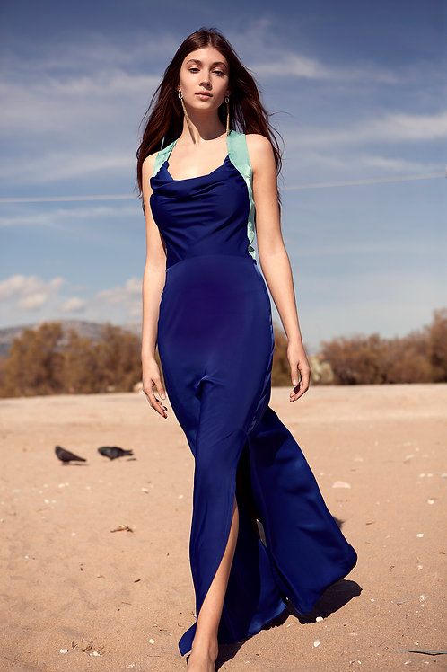 Naida draped dress
