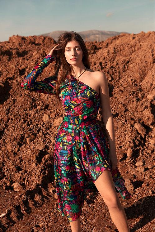 Zuri one shoulder dress