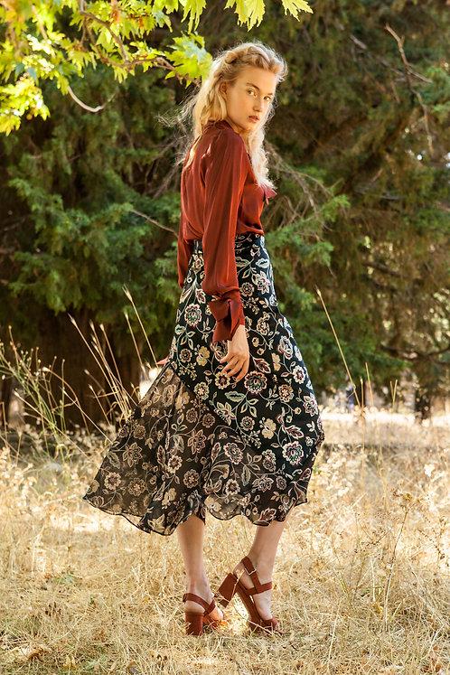 Daphne printed skirt